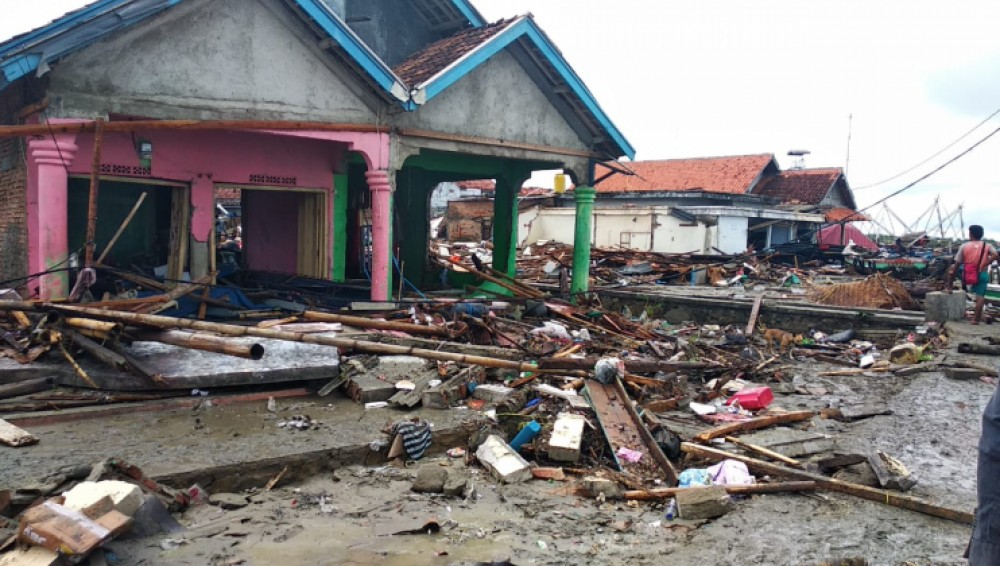 Red Cross in action after Krakatoa tsunami