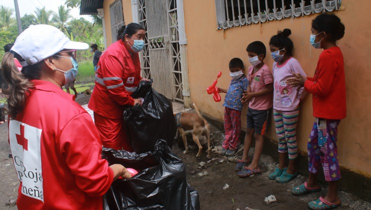 Panamanian Red Cross will support 3,000 people in Chiriqui and Veraguas in the areas of health, water and sanitation, shelter, and protection, gender, and inclusion.  Credits: Panamanian Red Cross