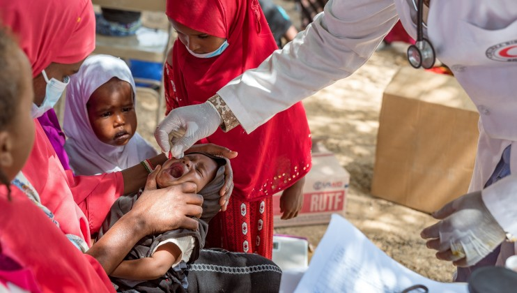 A 10 months old child, assessed as malnourished, given Vitamin A supplementation at the Dalow Mobile Clinic