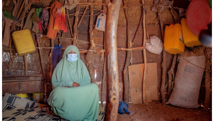 Hodan Mohamed, a 25 year old pregnant woman, has been a beneficiary of the SRCS mobile health services at the Ainabo IDP Camp 2